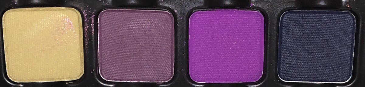 ROW 2 VISEART DARK EDIT EYESHADOW PALETTE OLIVE, BEAUJOLAIS, LAVENDER AND FORET