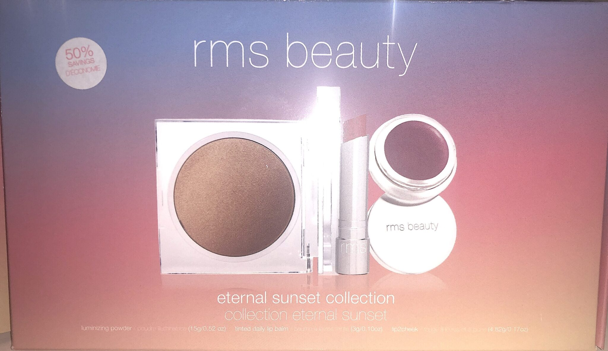 RMS BEAUTY ETERNAL SUNSET COLLECTION OUTER BOX