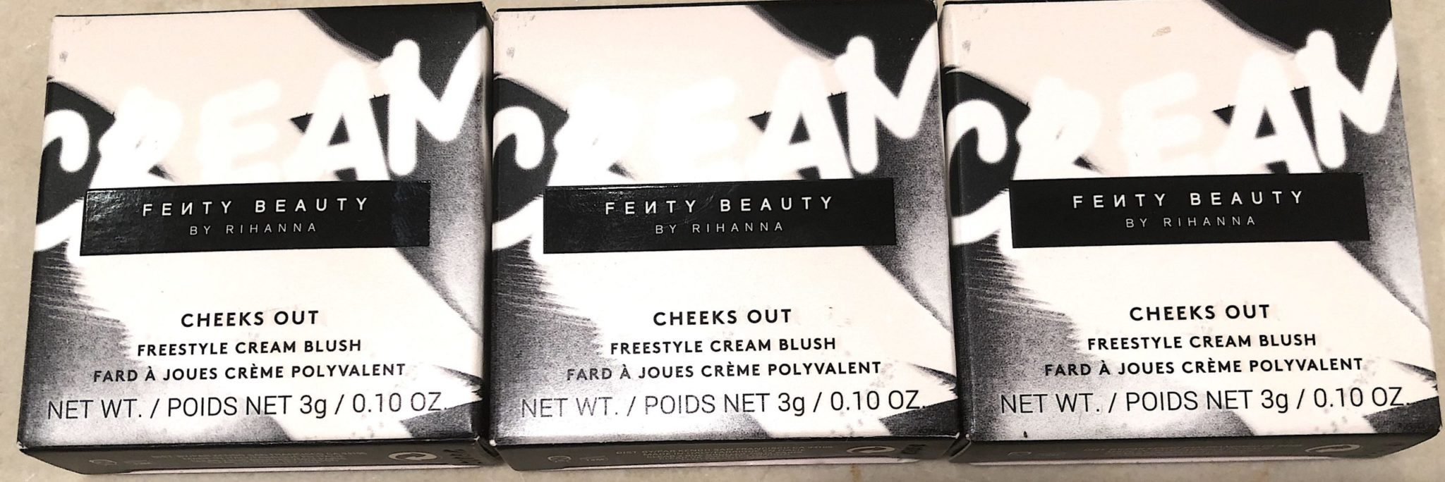 The outer box for Fenty Cheeks Out