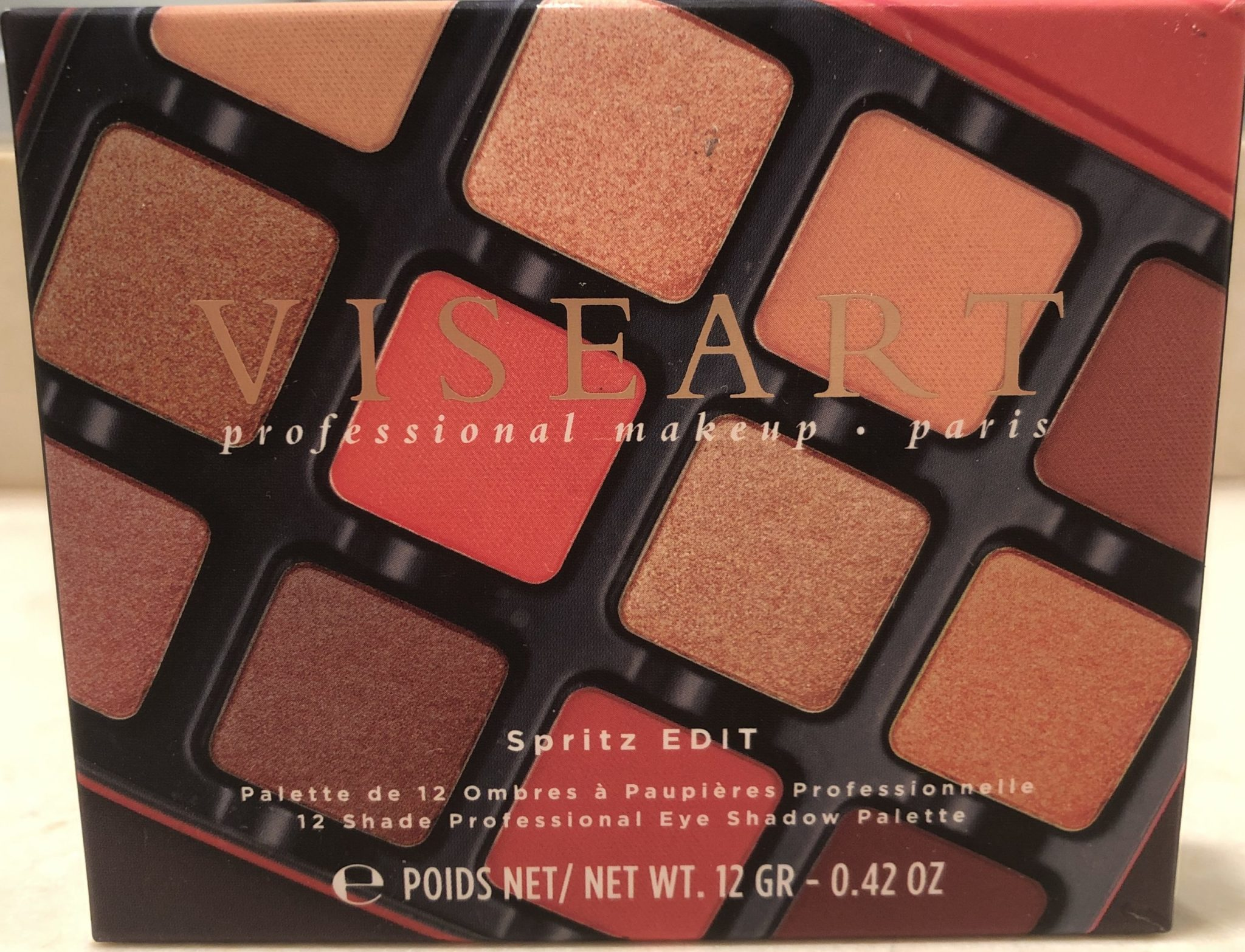FRONT OF THE VISEART SPRITZ EDIT EYESHADOW PALETTE OUTER BOX