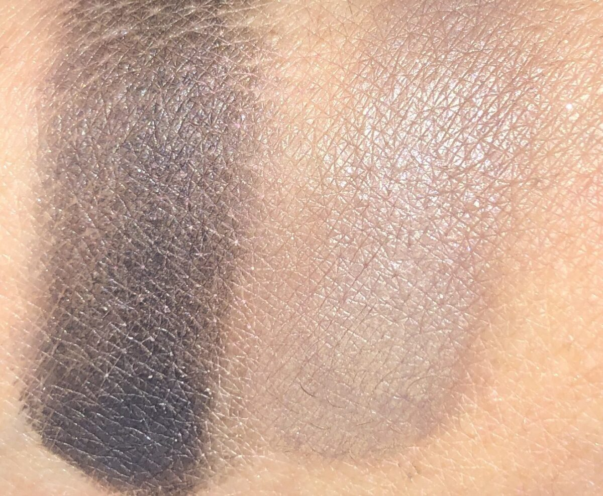 SWATCHES SUPERHERO EYELINER AND UNIVERSAL TAUPE BROW POWDER