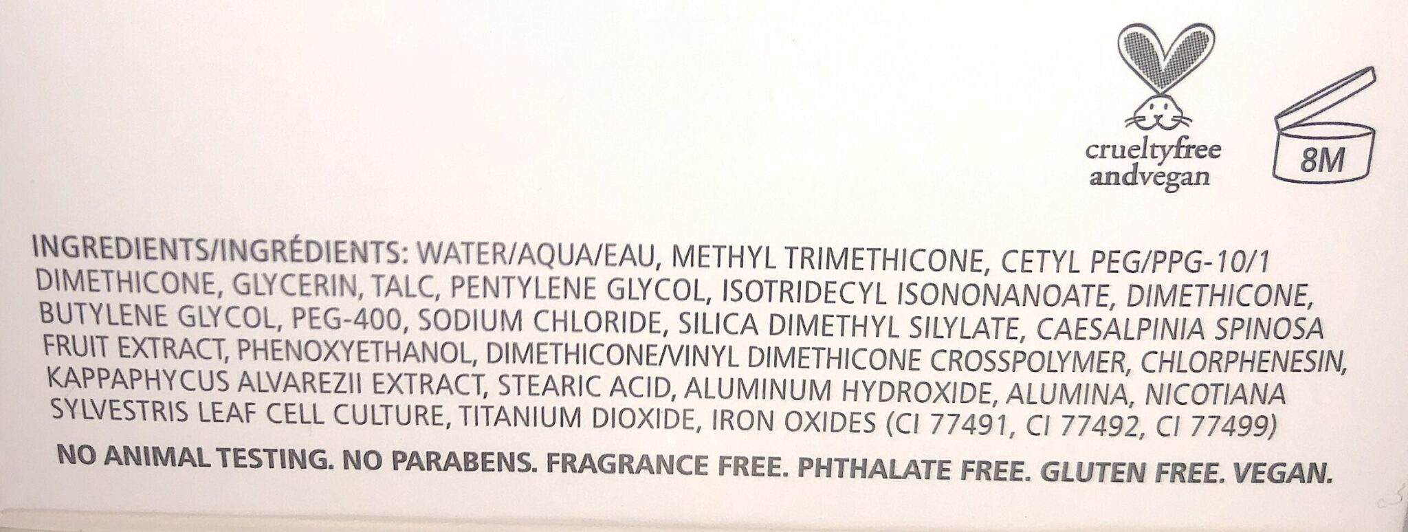 THE CHANTECAILLE FUTURE SKIN CUSHION INGREDIENTS
