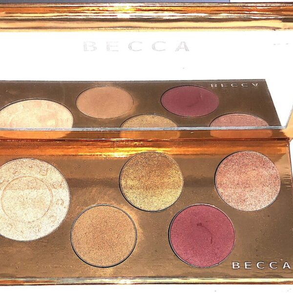 THE BECCA CHAMPAGNE POP FACE/EYE PALETTE POP GOES THE GLOW