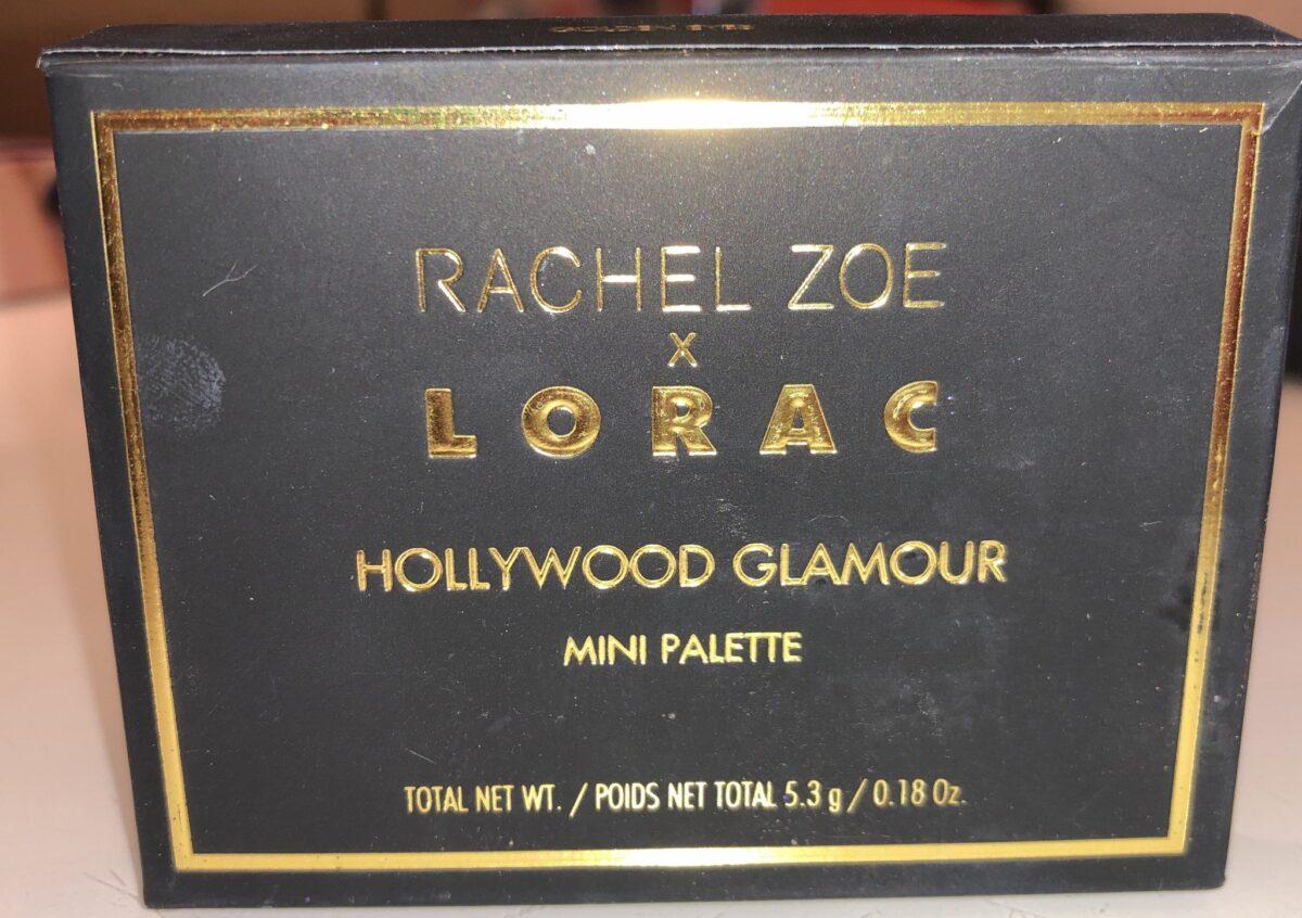 RACHEL ZOE X LORAC HOLLYWOOD GLAMOUR MINI PALETTE OUTER BOX