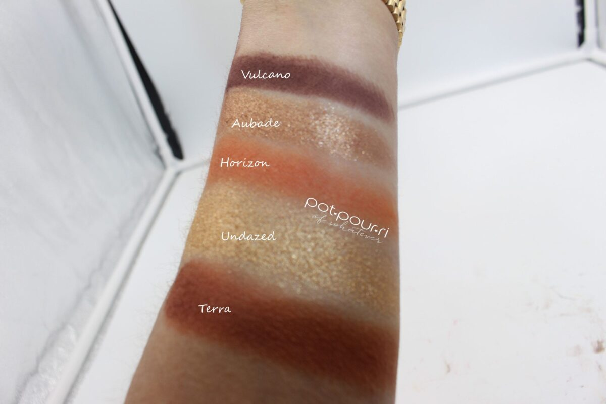 Sunset Palette Swatches continued