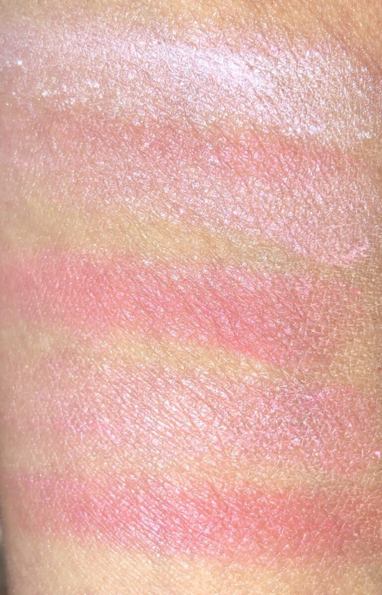 SWATCHES OF THE FIVE TONAL SHADES IN THE 03, LADY TULIP PALETTE