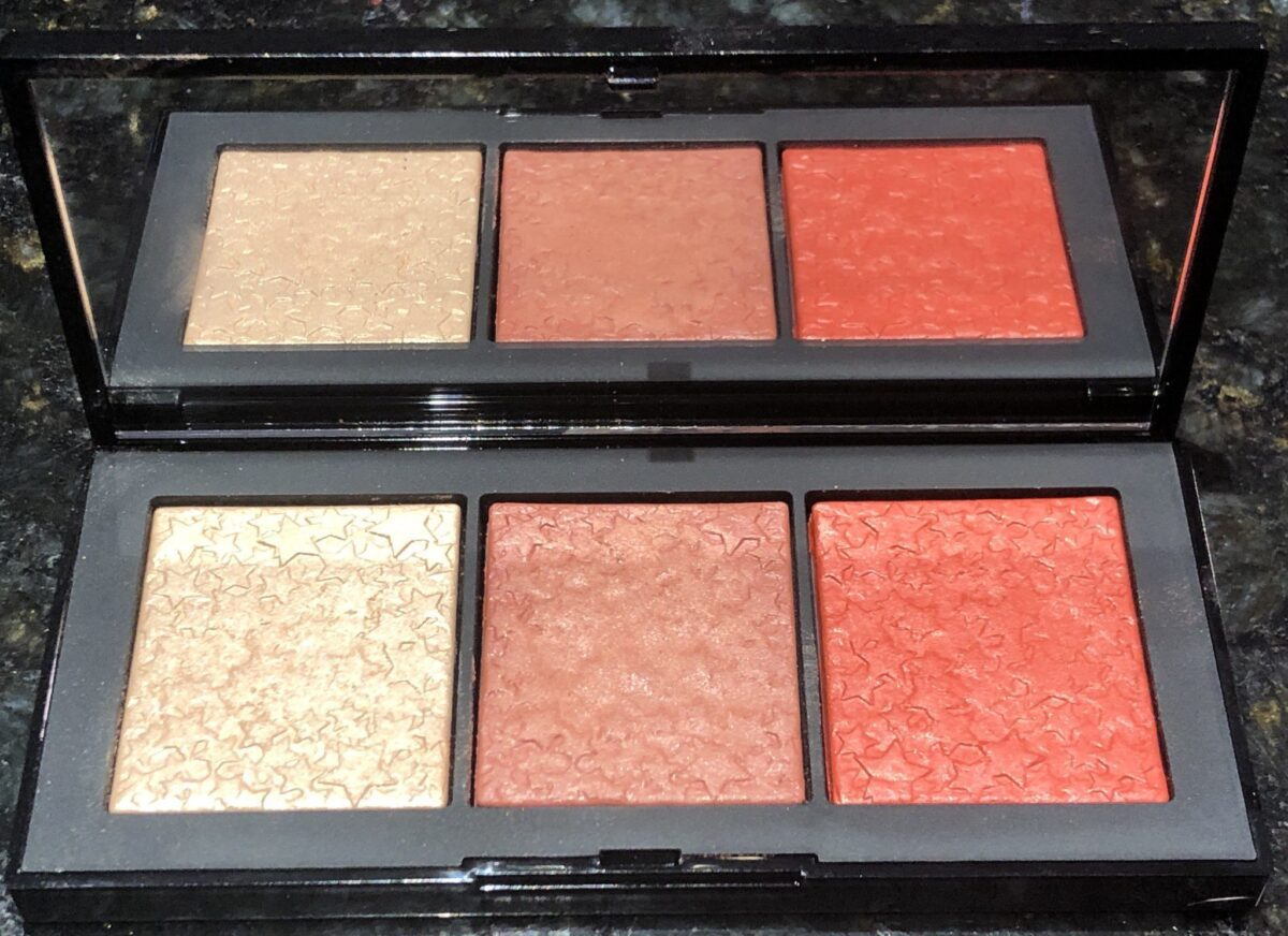 NARS STUDIO 54 HUSTLE PALETTE WITH MIRROR, ONE HIGHLIGHTER AND TWO BLUSHES