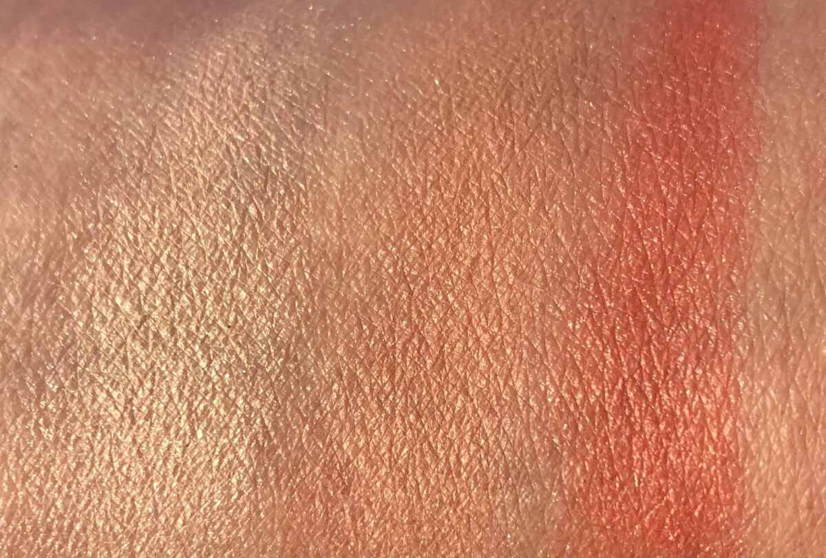 SWATCHES LEFT TO RIGHT: NARS CRIQUE, BORN TO BE ALIVE, AND I NEED A MAN
