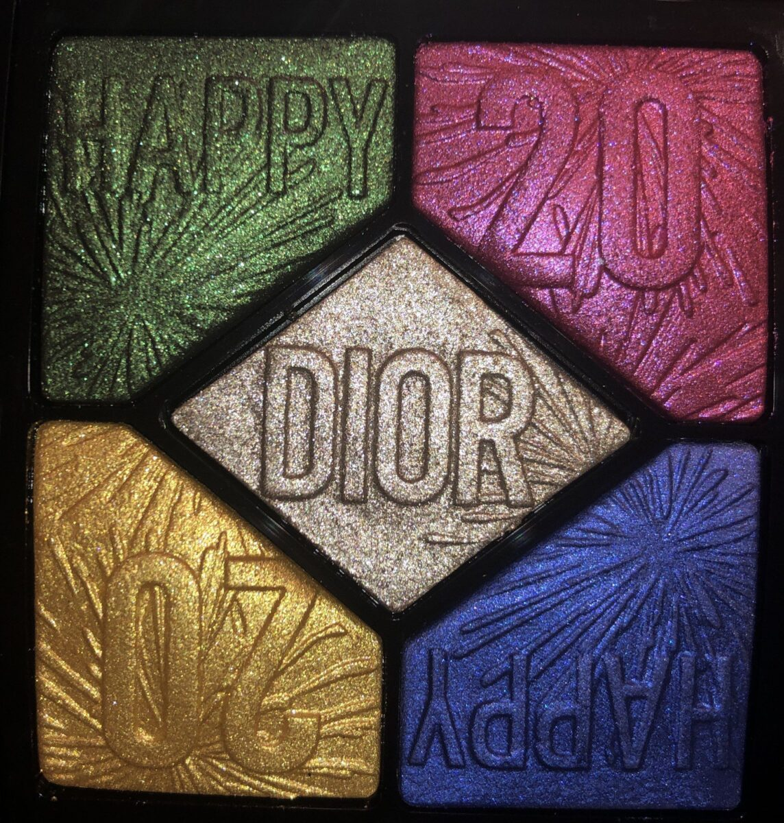 THE 5 SHADES IN THE DIOR HAPPY 2020 PARTY IN COLORS EYESHADOW PALETTE