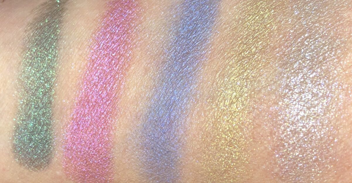 SWATCHES OF THE DIOR HAPPY 2020 PARTY IN COLORS PALETTE