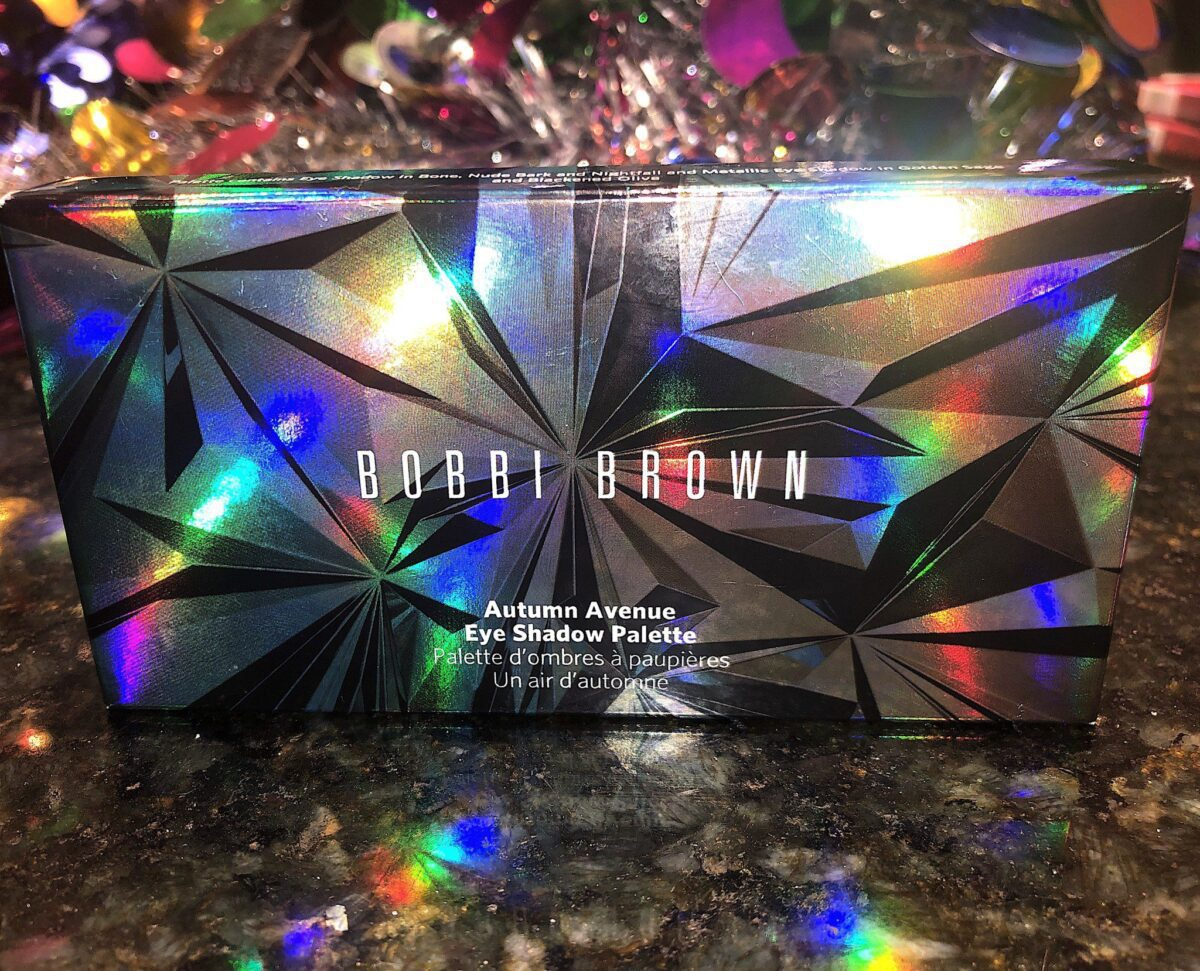 THE GLITZY OUTER BOX FOR THE BOBBI BROWN AUTUMN AVENUE EYESHADOW PALETTE