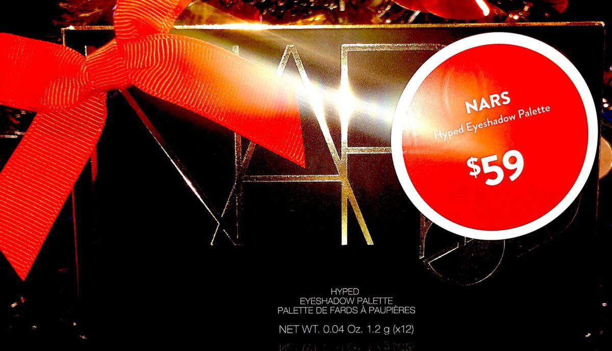 THE NARS STUDIO 54 HOLIDAY HYPED EYESHADOW PALETTE OUTER PACKAGING
