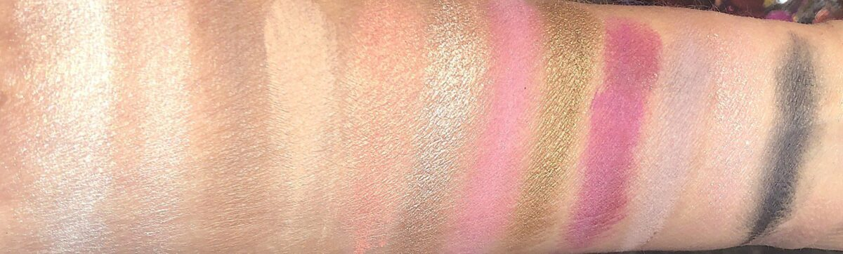 THE NARS STUDIO 54 HOLIDAY HYPED EYESHADOW PALETTE SWATCHES