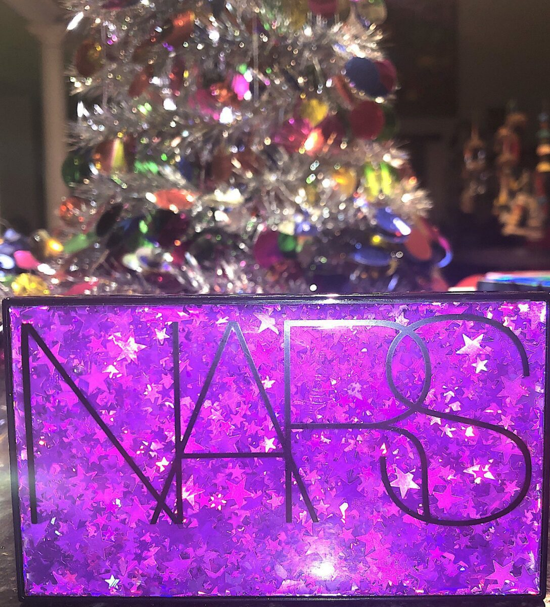 THE FRONT OF THE NARS STUDIO 54 HOLIDAY HYPED EYESHADOW PALETTE