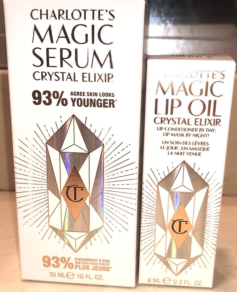 OUTER BOX PACKAGING FOR MAGIC SERUM CRYSTAL ELIXIR, AND MAGIC LIP OIL CRYSTAL ELIXIR