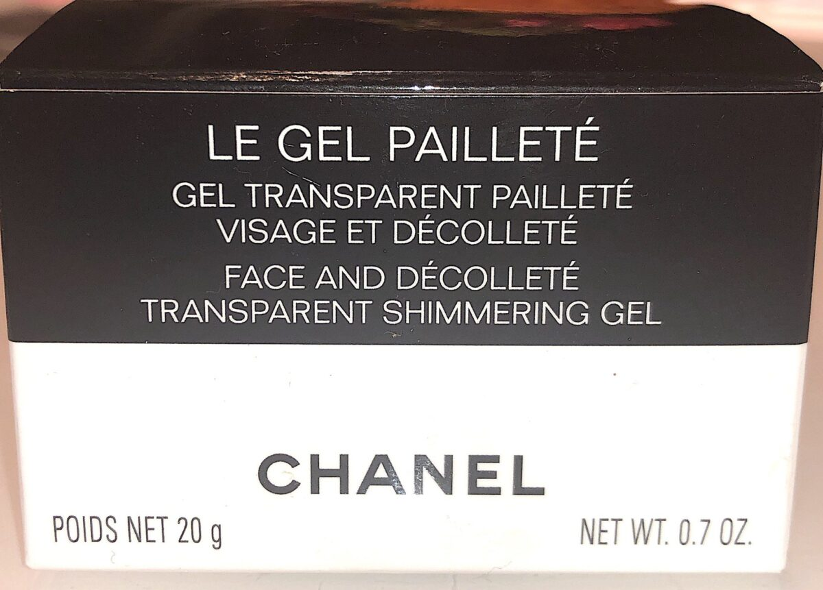 "OUTER PACKAGING FOR THE CHANEL TRANSLUCENT GEL ""LE GEL PAILLETE"""
