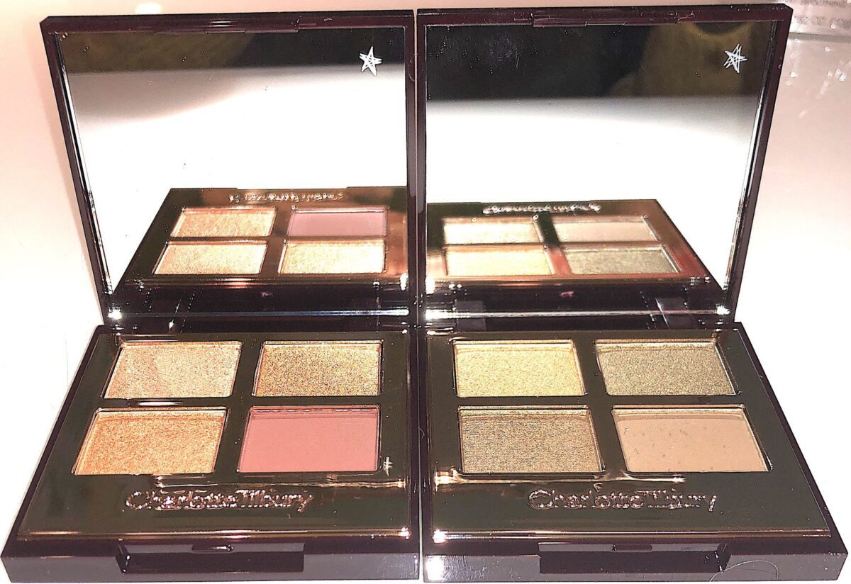 NEW CHARLOTTE TILBURY QUADS, QUEEN OF GLOW PALETTE AND REBEL PALETTE