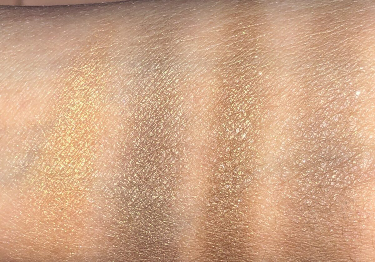 REBEL COLOR CODED EYESHADOW QUAD SWATCHES