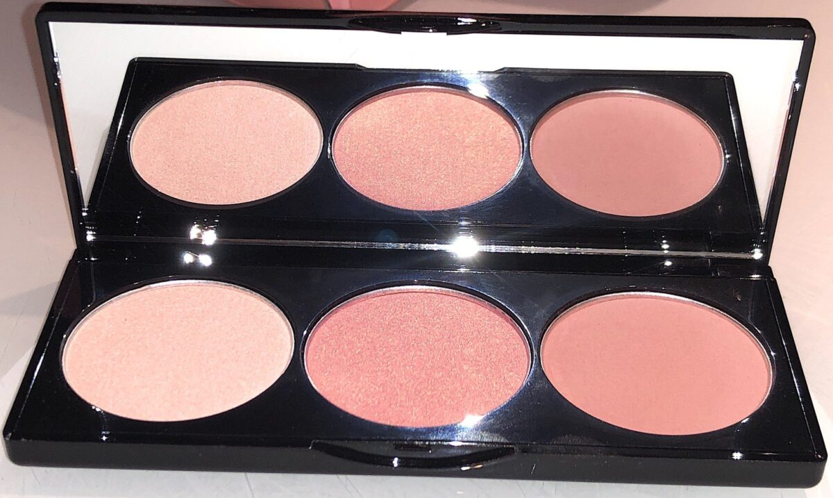 THE CHEEK TO CHEEK PALETTE HAS MATTE AND PEARLESCENT FINISHES