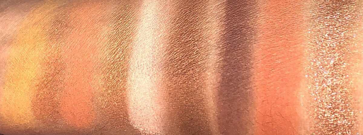 THESE ARE THE SWATCHES FROM THE HUDA BEAUTY GEM OBSESSIONS TOPAZ PALETTE