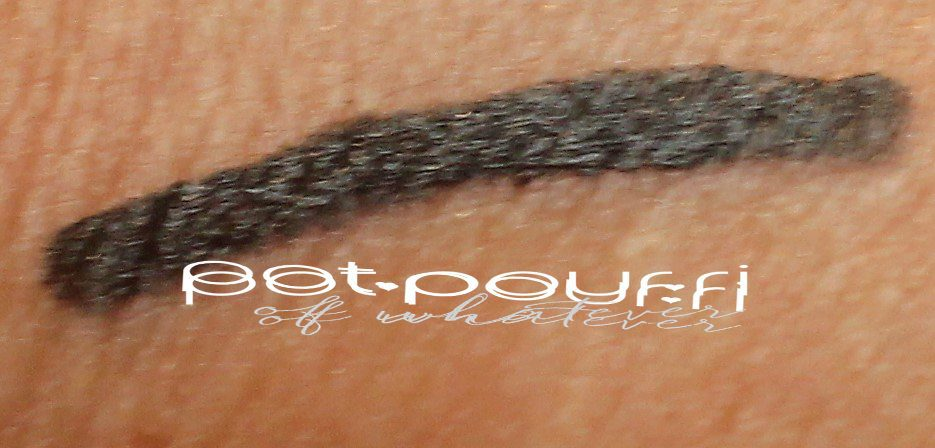 perversion black eye liner swatched