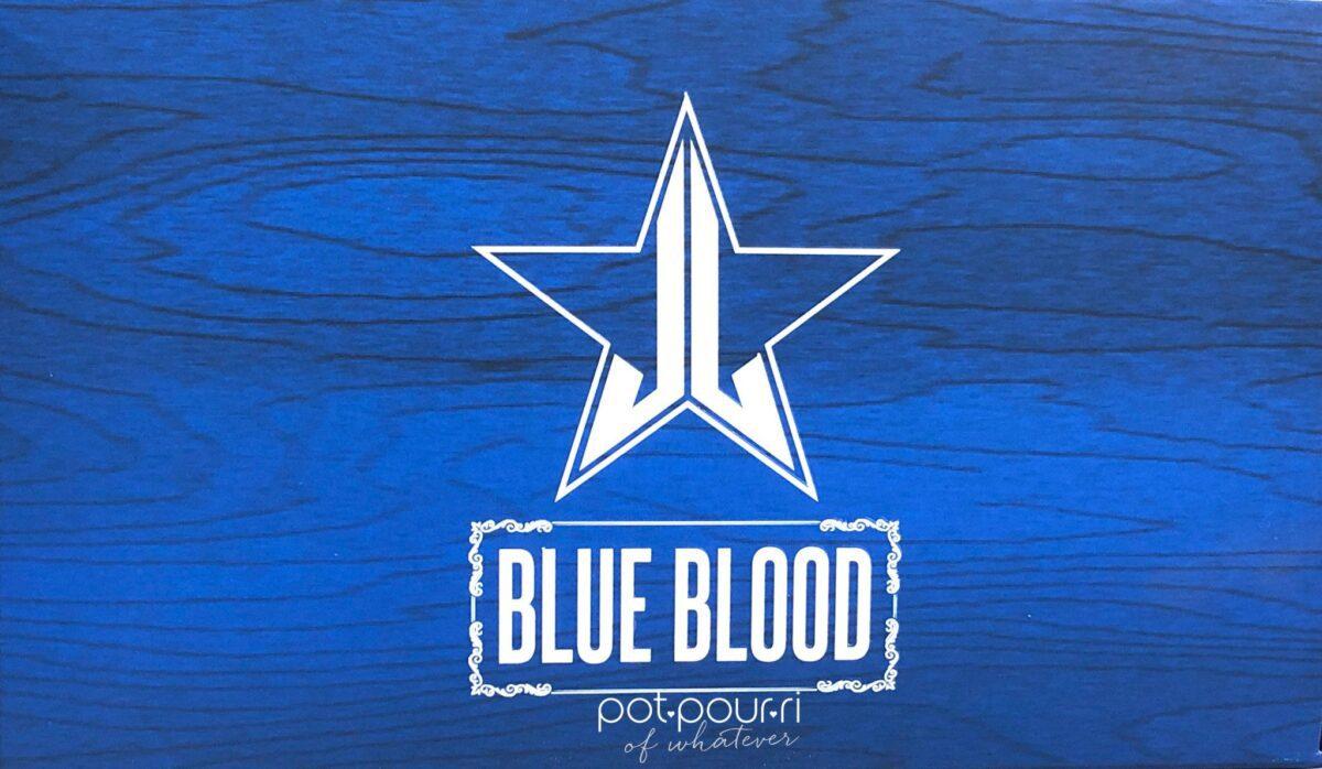 JEFFREE STAR BLUE BLOOD EYESHADOW PALETTE OUTER BOX
