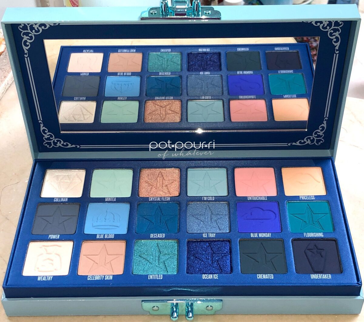 JEFFREE STAR BLUE BLOOD EYESHADOW PALETTE
