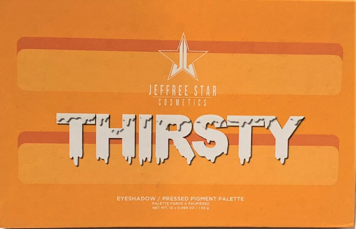 JEFFREE STAR THIRSTY EYESHADOW PALETTE PACKAGING BOX