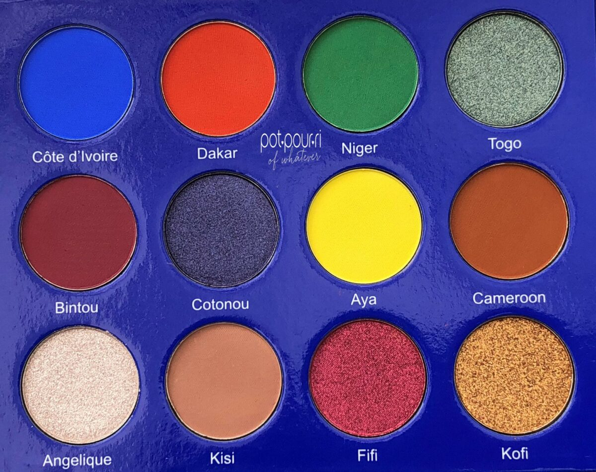 JUVIAS PLACE EYESHADOWS ARE HIGHLY PIGMENTED