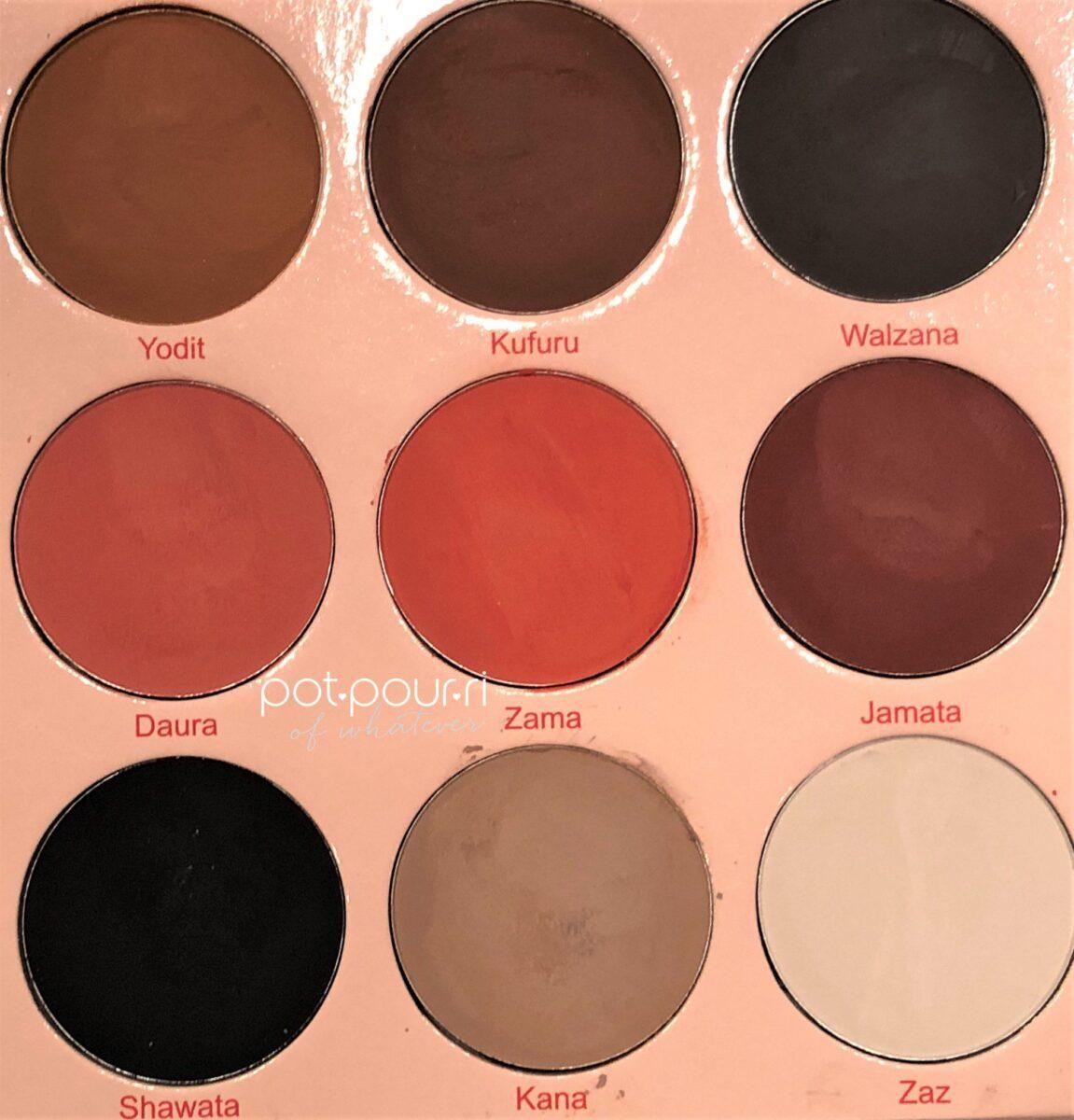 9 eye shadow shades