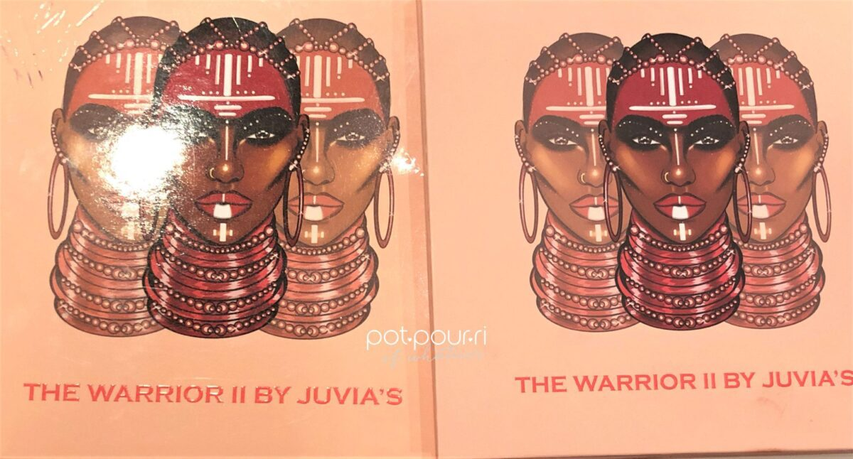 Juvia's Place Warrior 11 Eye Shadow Palette packaging box and compact