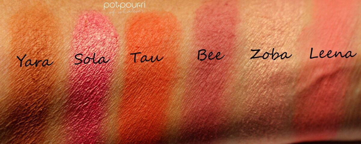 Blush Palette The Saharan Vol. 11 by Juvia's Place swatches