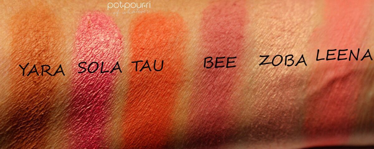 Juvia's Place The Saharan Blush Palette Vol. 11 swatches