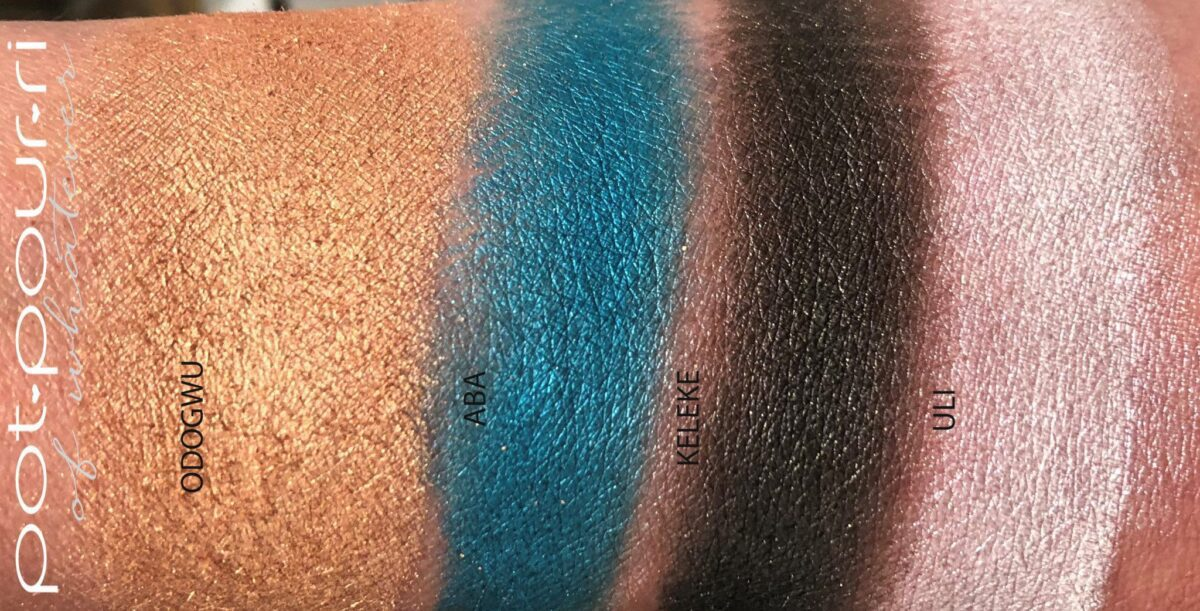 SHIMMER SHADES SWATCHED