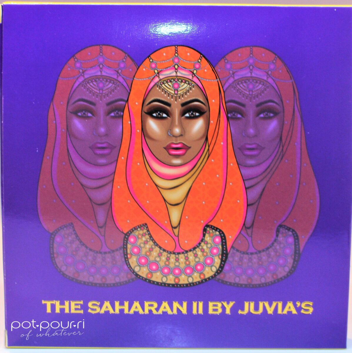 Juvia's Saharan 11 Eyeshadow Palette packaging