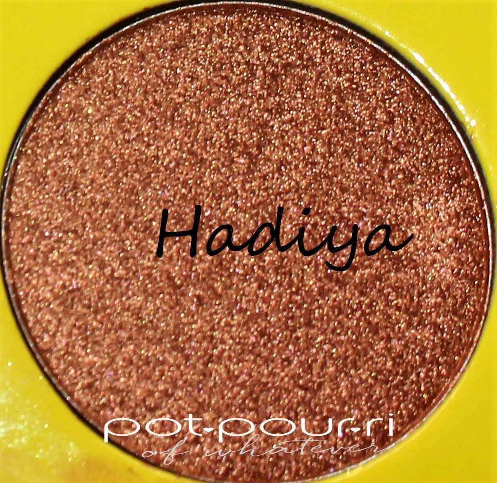 Juvia's-Saharan-11-palette-eyeshadows-9shades--Hadiya-medium-orangey-copper-shimmering-metallic