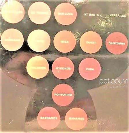 16 SHADES AND THEIR NAMES
