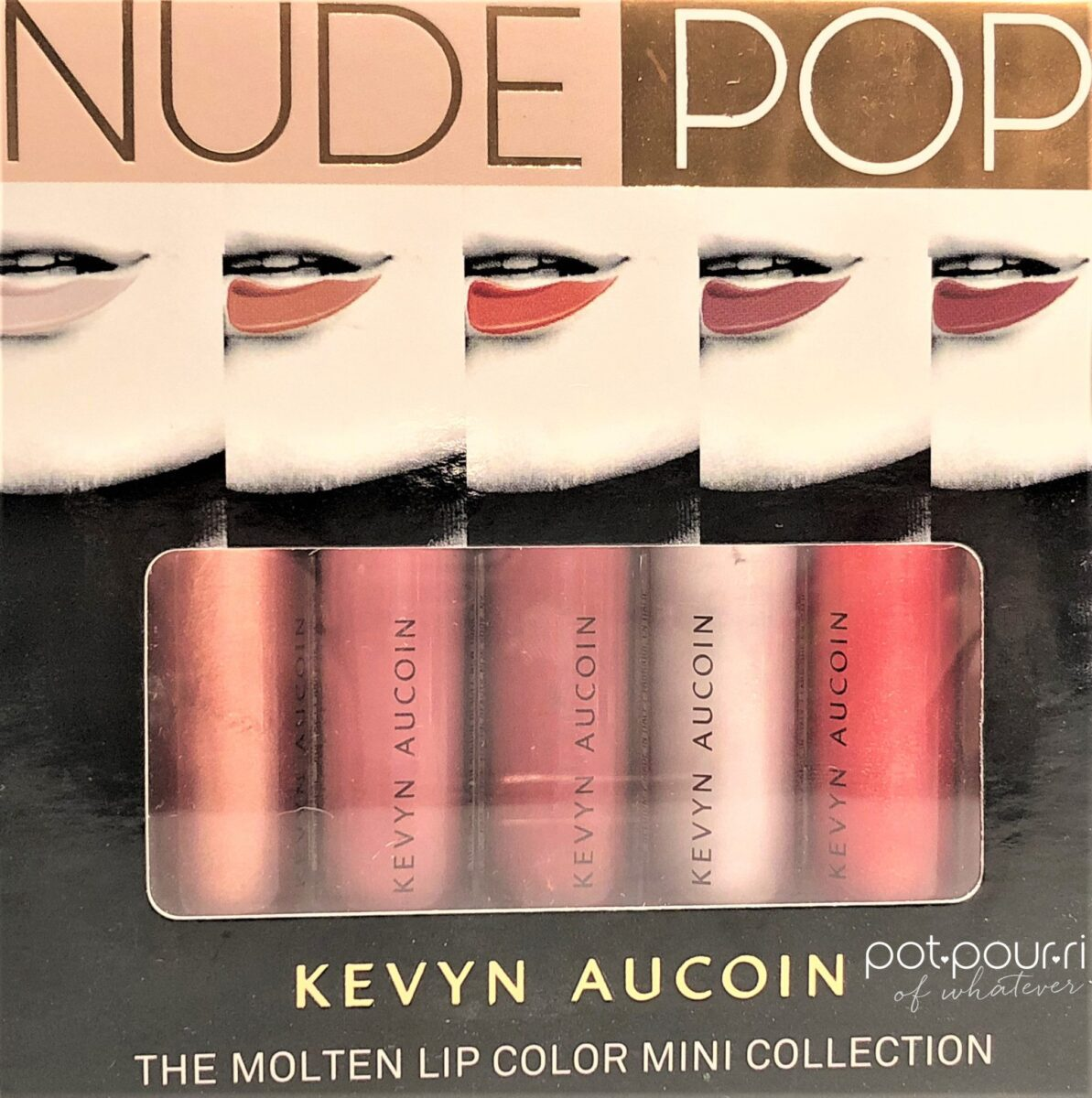 KEVYN AUCOIN MOLTEN MINI LIP COLLECTION PACKAGING