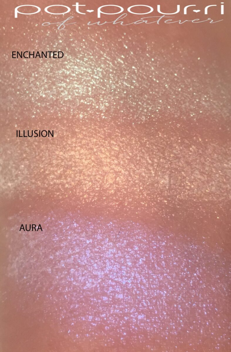 KEVYN AUCOIN PRISMAGIC HIGHLIGHTER TRIO SWATCHES