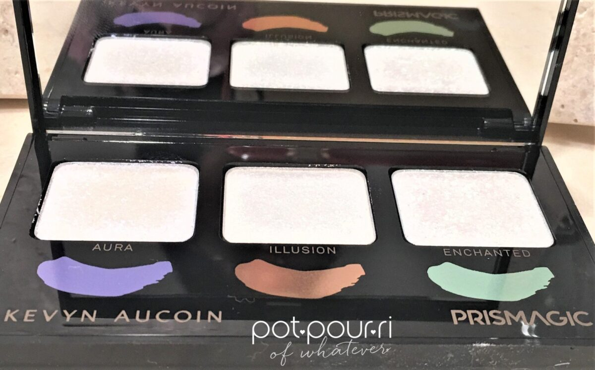 KEVYN AUCOIN PRISMAGIC HIGHLIGHTER TRIO COLOR PANS ARE TINY, COLOR GOES A LONG WAY