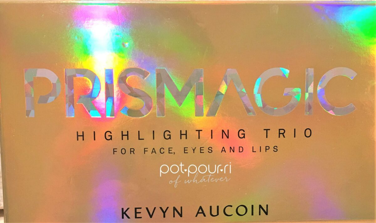 KEVYN AUCOIN PRISMATIC HIGHLIGHTER TRIO PACKAGING BOX