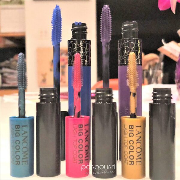 LANCOME-CHRISTIAN-DIOR-COLORED-MASCARA-AND-TOPCOATS-BRUSHES