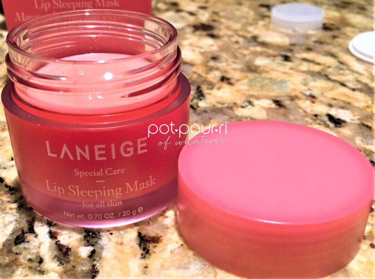 Laneige Lip Sleeping mask formula is pink and balm like