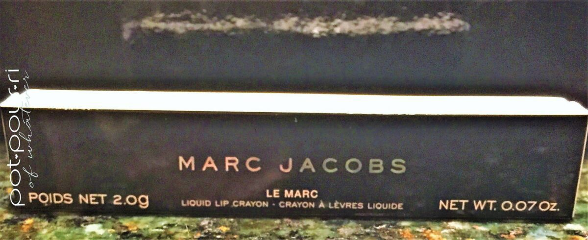 Le Marc Jacobs Liquid Lip Crayon Packaging
