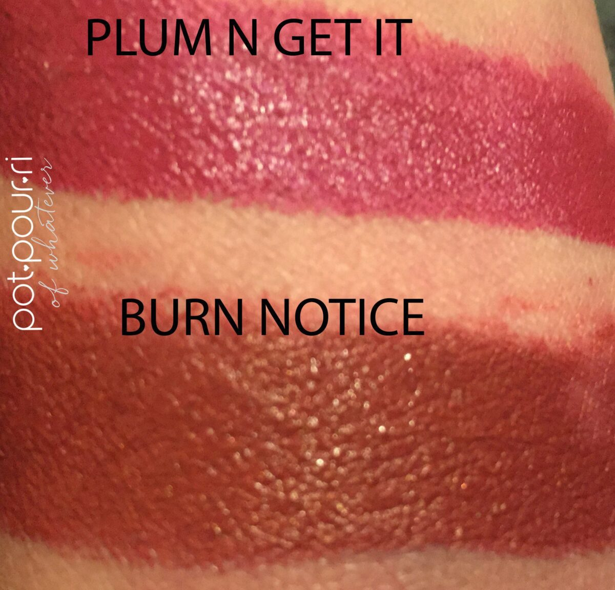 Le-Marc-Jacobs-swatches-liquid-lip-crayon-top-plum-n-get-it-bottom-burn-notice