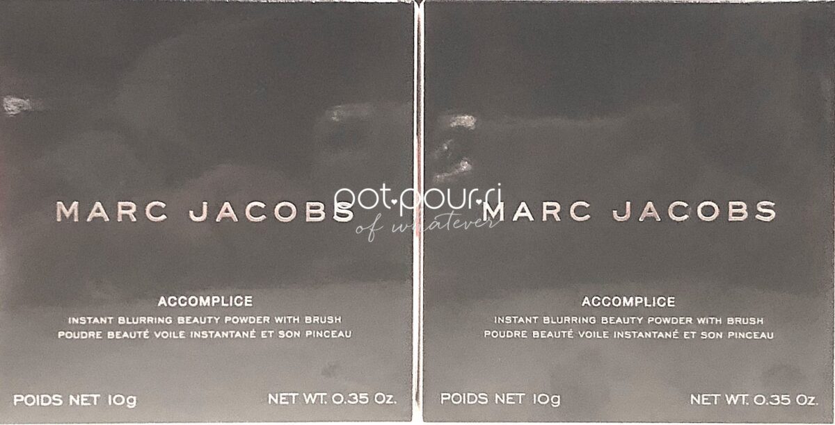 MARC JACOBS ACCOMPLICE OUTER BOX INSTANT BLURRING POWDER
