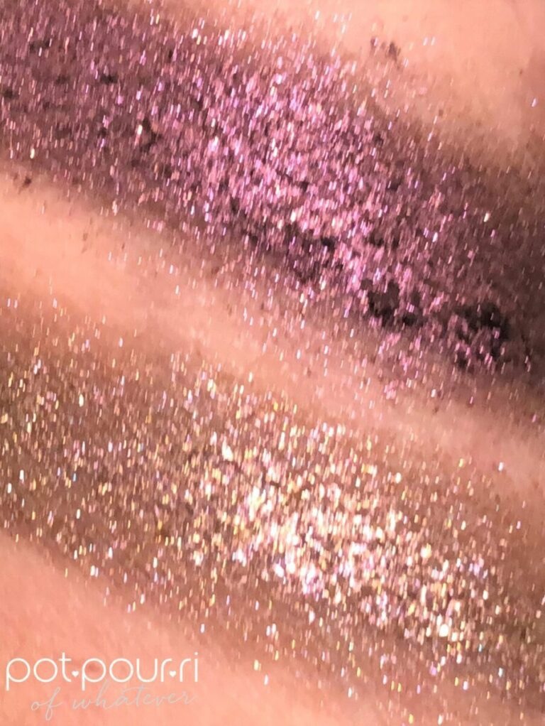 TOP BLITZ GLITZ BOTTOM TOPAZ FLASH SWATCHES