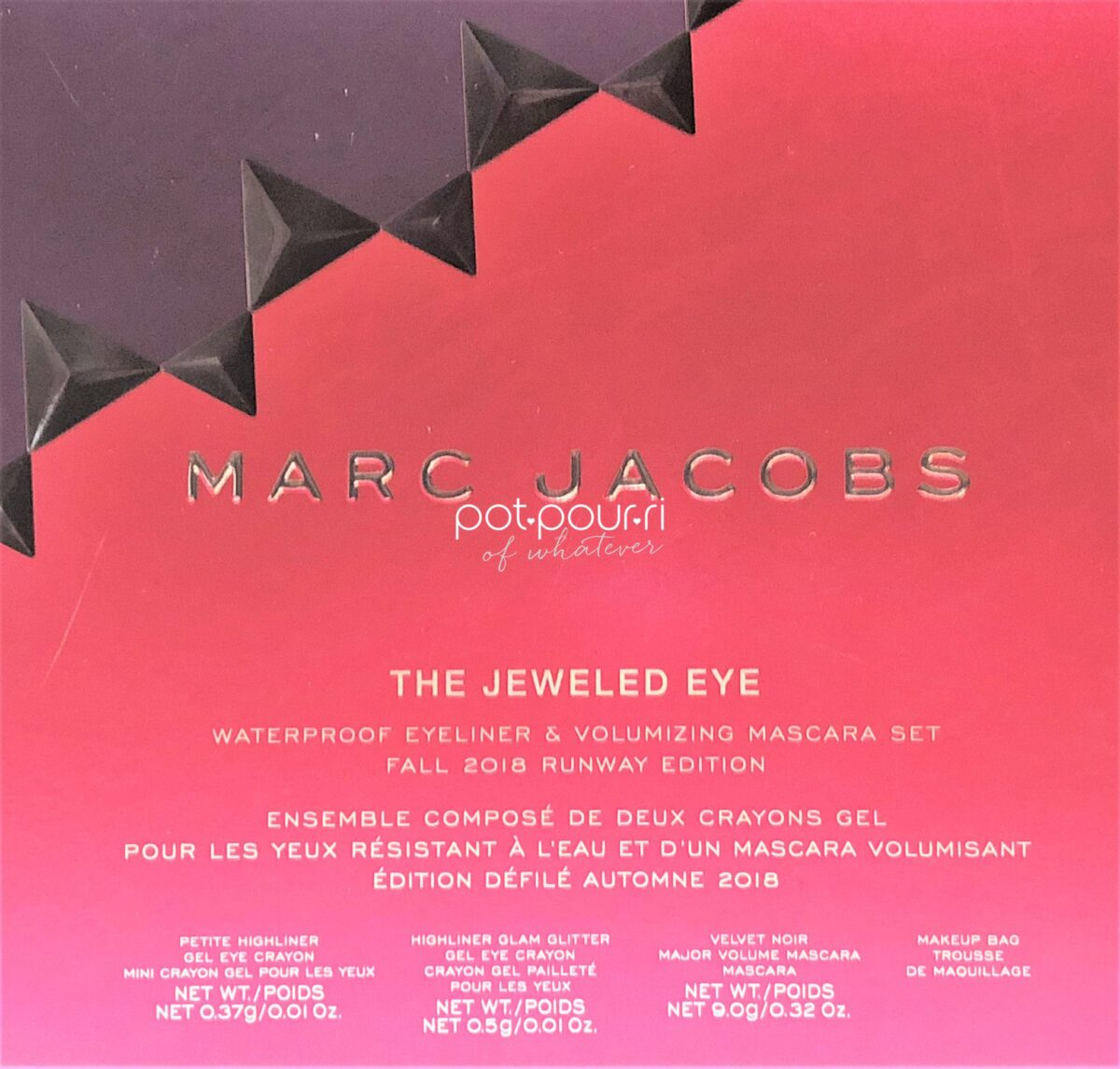 PACKAGING MARC JACOBS JEWELED EYE COLLECTION