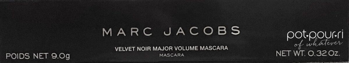 MARC JACOBS VELVET NOIR MASCARA PACKAGING BOX