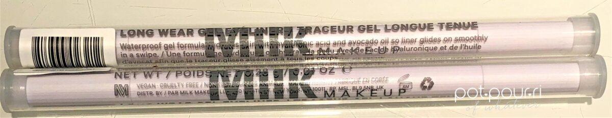 MILK MAKEUP LONG WEAR GEL EYELINER PACKAGING PLASTIC TUBE